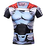 Red Plume® Men's Compression Sports Fitness Shirt, Movie Hero Raytheon T-shirt (M, blue)