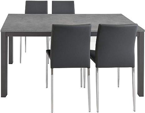 Tavolo Da Cucina Moderno.Spazio Casa Tavolo Grigio Allungabile Moderno Da Cucina 110 X 70 Grigio Amazon It Casa E Cucina