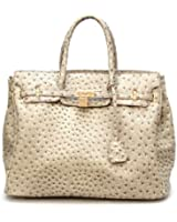 Noble Mount London Office Tote - Ostrich/Snake Textures