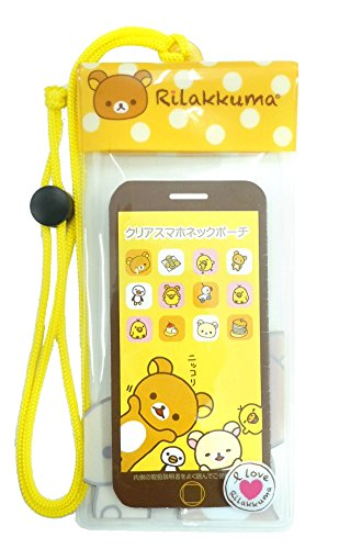 Rilakkuma San-X Clear Sumaho Universal Ultrapouch Waterproof Pouch with Touch Responsive Front and Back Transparent Screen Protector Windows(Compatible upto 6 Inches screen Size)