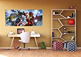 WallandMore Marvel Avengers Wall Decal Mural For Boys Room 79.5