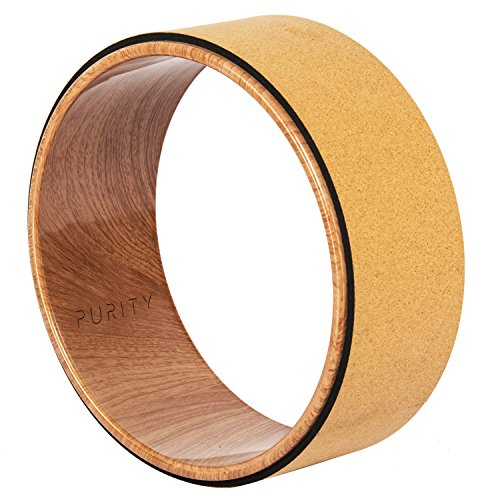 Purity Wave Pro Yoga Wheel - Strongest & Most Comfortable Dharma Yoga Prop Wheel, Perfect Accessory for Stretching and Improving Backbends, 12 x 5 Inch Basic by Purity Wave