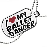 Dogtag I heart love my Ballet Dancer Dog tags necklace - Neonblond