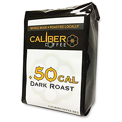 .50 Cal Smooth Roasted Coffee Beans Strong on Flavor High in Caliber Caffeine Rich 4oz Sampler Bag