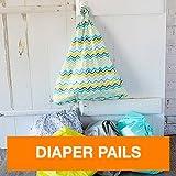 FuzziBunz Hanging Diaper Pail, Chevron