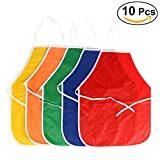 NUOLUX 10PCS Artists Painting Aprons Smock Apron for Children Crafts Art Activity