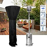 Kaciopoo Patio Heater Cover with Zipper, Heavy Duty Stand Up Patio Heater Cover Waterproof with Storage Bag Black