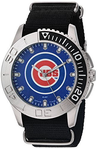 Game Time Men's 'Starter'  Metal and Nylon Quartz Analog  Watch, Color:Black (Model: MLB-STA-CHI)