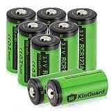 KinGuard RCR123A Rechargeable Batteries 3.7V 750mAh CR123A Lithium Battery for Arlo Camera VMC3030 VMK3200 VMS3330 3430 3530 Flashlight - 8 Pack