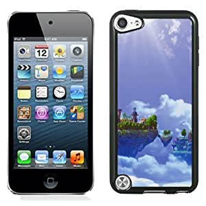 New Beautiful Custom Designed Cover Case For iPod 5 With Sky Island Castle Phone Case