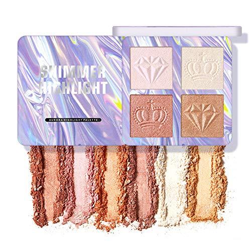 Erinde Highlighter Palette, Highlighter Makeup Powder Palette, Glow Bronzer Illuminator Palette, Face illuminator Makeup…