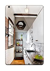Kevin Charlie Albright's Shop 2301604K19400855 premium Phone Case For Ipad Mini 3/ Galley Kitchen With White Cabinets Brick Wall Amp View Tpu Case Cover