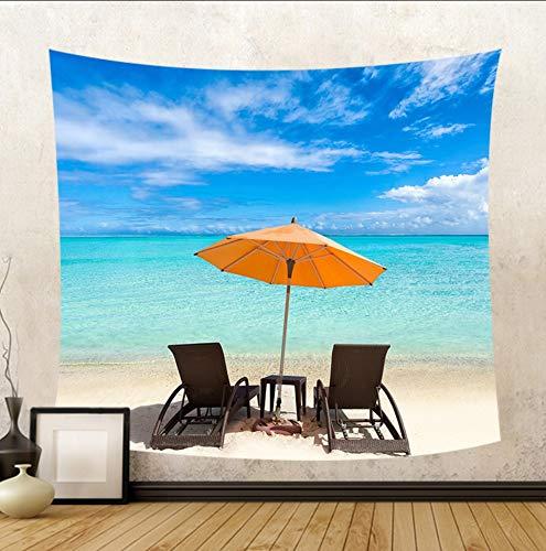 Amazon.com: Huanxidp Tapestries Hermosa Vista Al Mar Silla De Playa ...