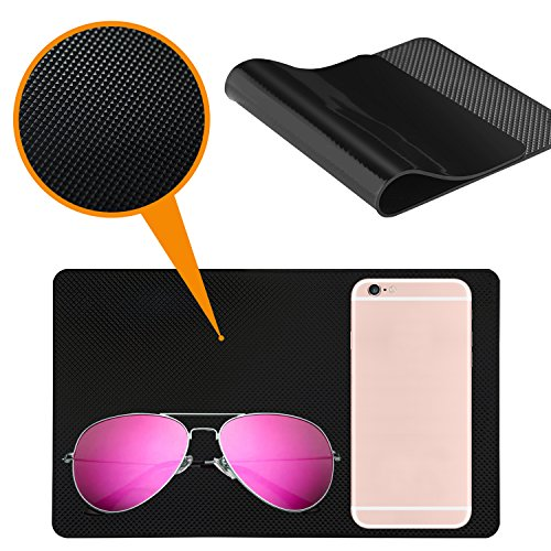 Car Dashboard Anti-Slip Mat, DaKuan 4 Packs 10.5'' x 5.7'' and 8'' x 5.1'' Sticky Non-Slip Dashboard Gel Latex Pad for Cell Phone, Sunglasses, Keys, Coins by DaKuan (Image #8)