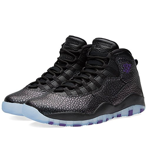 Nike Air Jordan Retro 10, Zapatillas de Baloncesto para Hombre Negro (Black / Fierce Purple-Black)