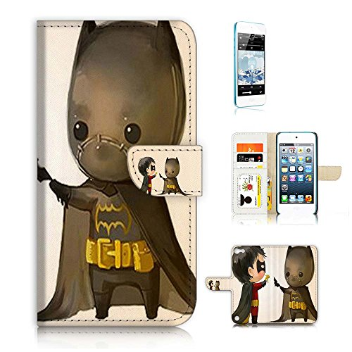 ( For ipod 5, itouch 5, touch 5 ) Flip Wallet Case Cover & Screen Protector Bundle! A20017 Robin and Batman