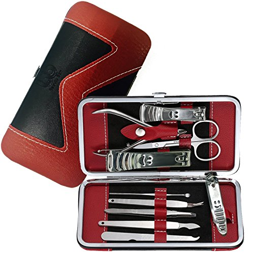 Manicure, Pedicure Kit, Nail Clippers Set of 10, Stainless S