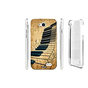FUNDA CARCASA EFECTO MADERA PIANOFORTE BLACK PARA LG L90 D405N