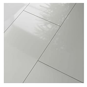 Westco H474418 8 Mm Glänzend Laminat Fliesen Effekt Bodenbelag Plank U2013 Weiß