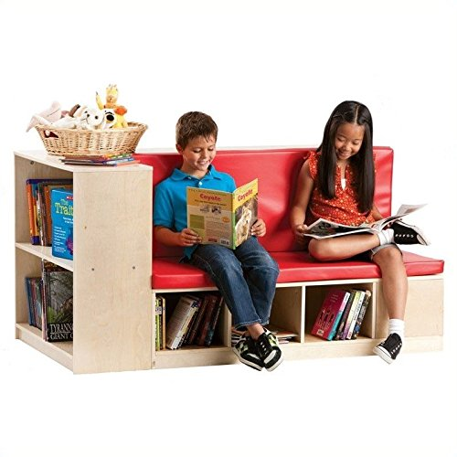 Guidecraft Modular Library Storage Set with Seat