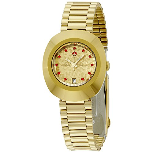 Rado Diastar Gold Tone Dial Gold Tone Stainless Steel Ladies Watch R12416653