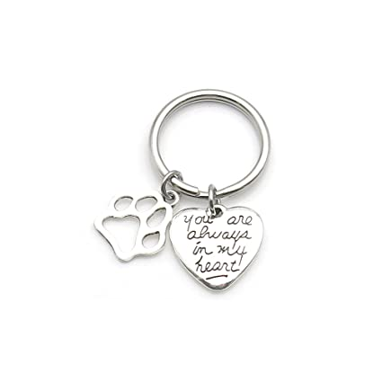 Amazon.com  Pet Dog Memorial Keychain You Are Always In My Heart ... f82ec80af