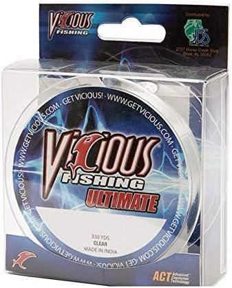 Vicious Ultimate Monofilament Fishing Line Lo-Vis Green Various Lb Test