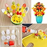 mold fruit - Creative Plastic Fruit Cutter, Fast and Easy To Use Vegetable Cake Cookie Cutting Mold Set for Festival Party Holiday Wedding