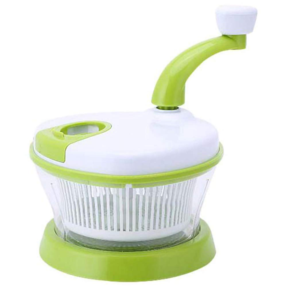 XMM Nut Chopper Manual Food Chopper Household Manual Meat Grinder 4 in 1 Multi-Function Kitchen Manual Food Processor Vegetable Chopper Egg Blender Kitchen (Green) by XMM