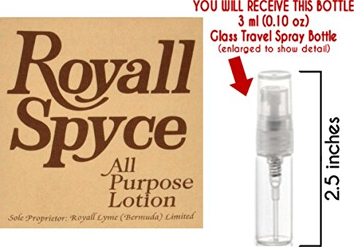 Royall Spyce by Royall Lyme of Bermuda Glass Mini Travel Spray for Men (3ml)