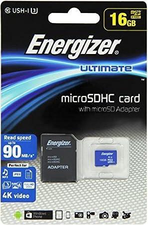 Energizer Ultimate - Tarjeta de Memoria Micro SD, 16 GB ...