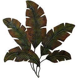 "Deco 79 97920 Metal Palm Wall Decor, 35""W x 34""H"
