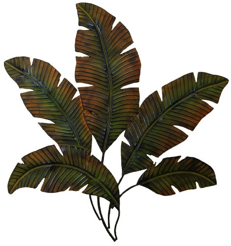 Palm Leaf Wall Sculpture - Deco 79 97920 Metal Palm Wall Decor, 35
