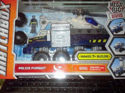 Matchbox Mega Rig Building System Police Pursuit - Mattel Matchbox Mega Rig