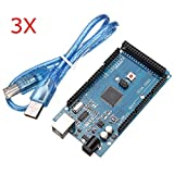 3Pcs Davitu Mega2560 R3 ATMEGA2560-16AU + CN340 Board With USB For Arduino - Arduino Compatible SCM & DIY Kits