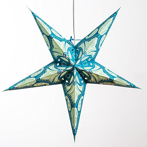 Lotus-Paper-Star-Lantern-with-12-Foot-Power-Cord-Included