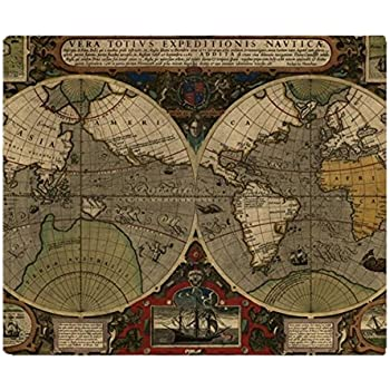 Amazon cafepress vintage old world map 1595 soft fleece cafepress vintage old world map 1595 soft fleece throw blanket 50 gumiabroncs Gallery