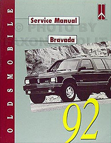 1992 Oldsmobile Bravada Repair Shop Manual Original
