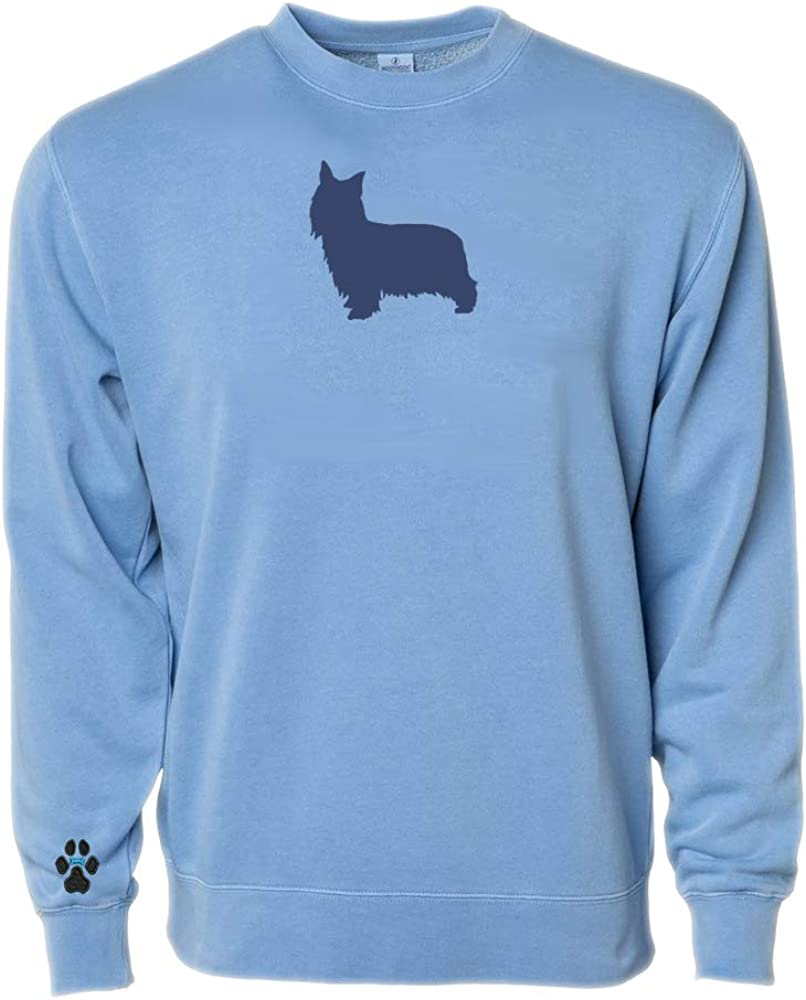 Heavyweight Pigment-Dyed Sweatshirt with Australian Silky Terrier Silhouette