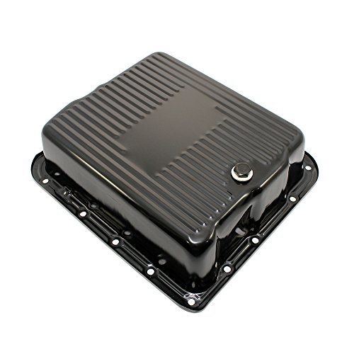 Assault Racing Products A9712BK GM 700R4 4L60E Black Automatic Transmission Pan Extra ()