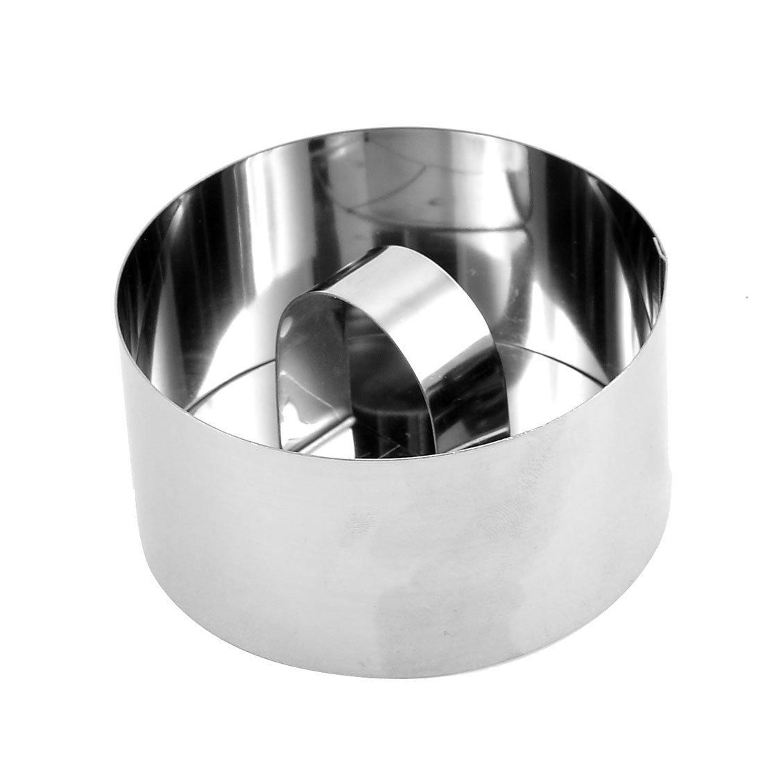 Amazon.com: Forma de acero inoxidable eDealMax Ronda de cookies herramienta Hornear Molde cortador w suave: Kitchen & Dining