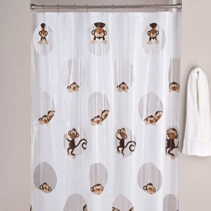 Peeking Monkeys Shower Curtain