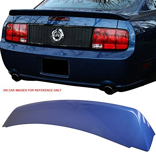 Pre-painted Trunk Spoiler Fits 2005-2009 Ford Mustang | Factory Style ABS Painted Vista Blue #G9 Trunk Boot Lip Spoiler Wing Deck Lid Other Color Available By IKON MOTORSPORTS | 2006 2007 2008