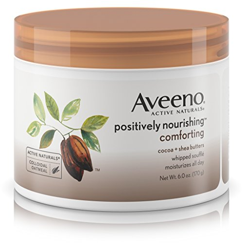 Comforting Butter Body Wash - Aveeno Positively Nourishing Daily Moisturizer Comforting Whipped Soufflé, 6 Oz