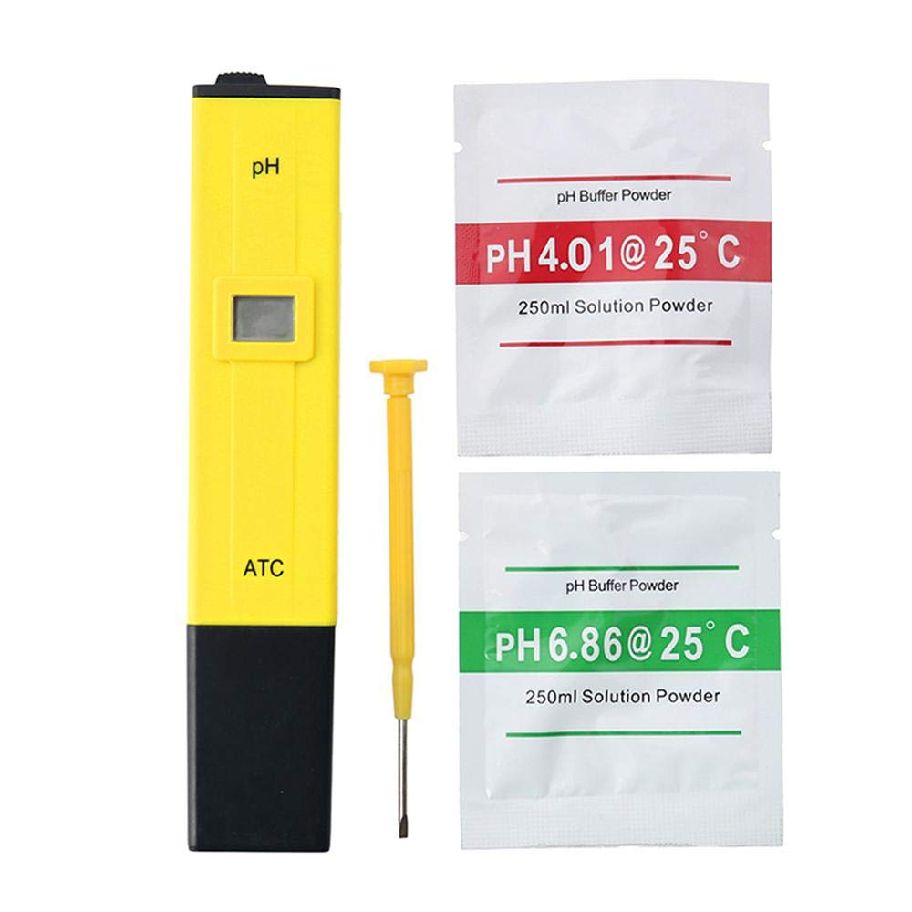 Pool and Aquarium for Household Drinking Digital PH Meter ATC Goglor 0.01 PH High Accuracy Water Quality Tester with 0-14 PH Measurement Range Calibration Buffer Solution Powder Included