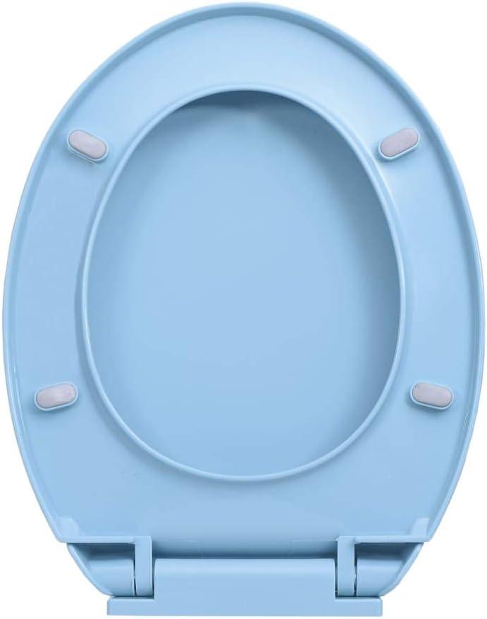 Goliraya Si/ège de Toilette /à Fermeture en Douceur Abricot Ovale Stable et Durable pour Les Familles Les Restaurants Les Magasins et Les H/ôtels
