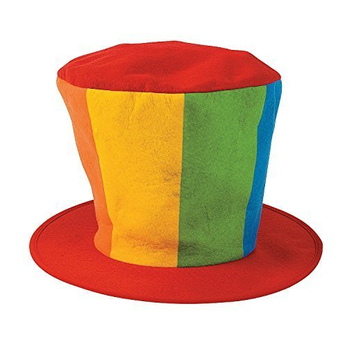 [Fun Express - Oversized Felt Clown Top Hat Party Costume Carnival (2-Pack)] (Express Costume)