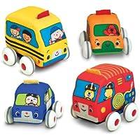 Melissa & Doug K's Kids Pull-Back Vehicle Set - Soft Baby...