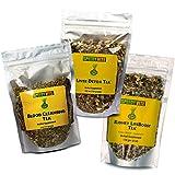 Speedyvite Tea Total Detox & Cleanse Combo: Blood Cleansing Tea 4oz + Kidney Bladder Tea 4oz + Liver Detox Tea 5.5oz Natural Herbal Supplement