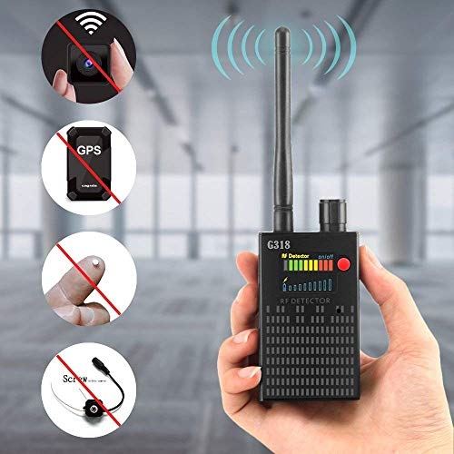 【Newest Version】 Dooreemee Anti Spy RF Signal Detector Bug Detector for Wireless Hidden Camera Laser Lens GSM Device Finder, GPS Tracker Scanner, Radio -